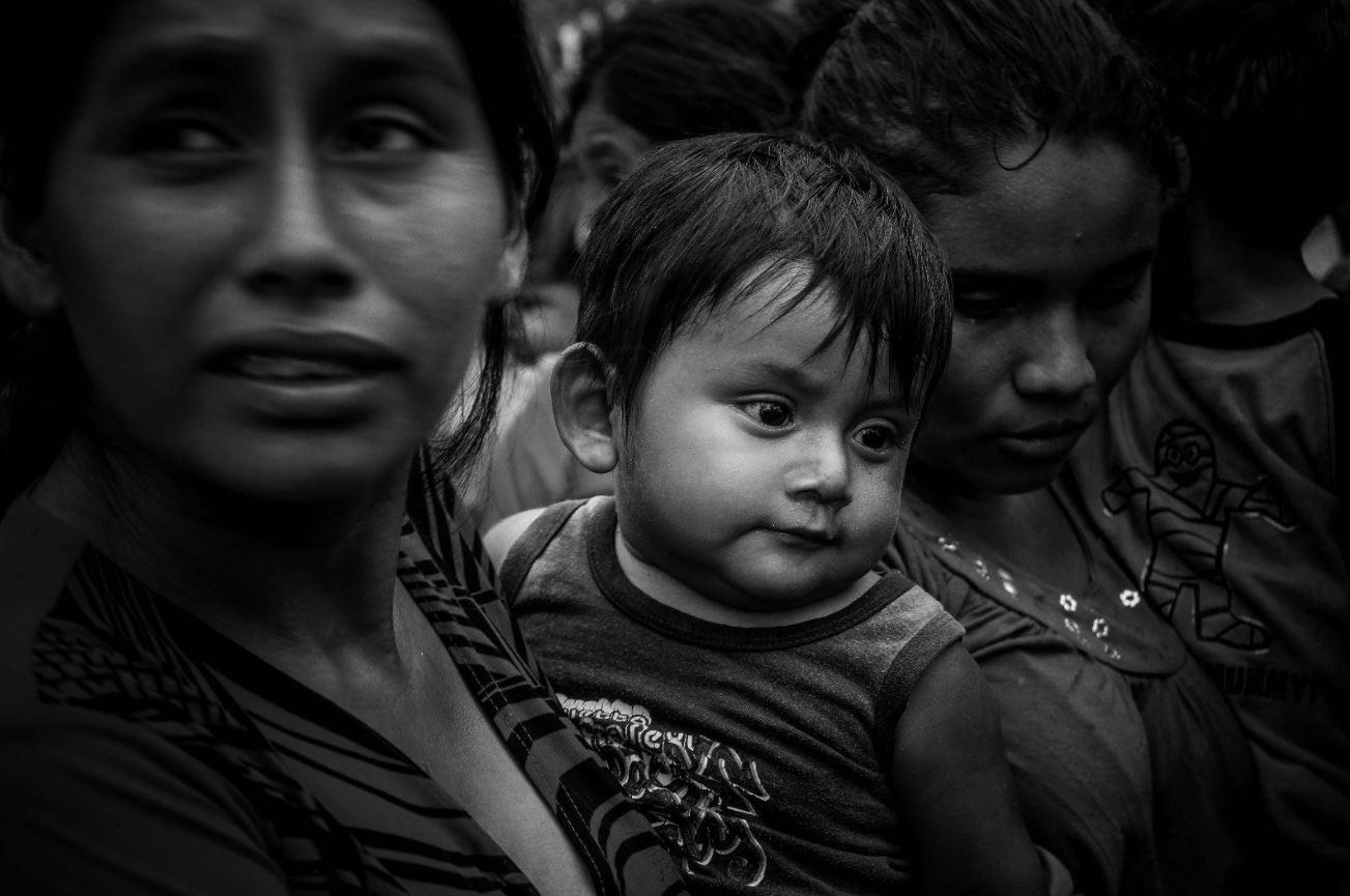 Desplazados, Gobierno Guatemalteco, Campamento, Campeche, Agua, Alimento, Guatemala, INM