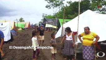 Campamento, desplazados, guatemaltecos, Campeche, enfermedades, infección, salud