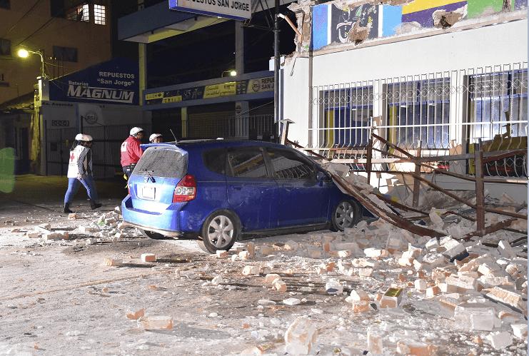 El sismo que sacudió a Guatemala dejó danos en algunos inmuebles