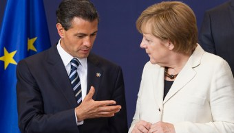 Enrique Peña Nieto y Angela Merkel