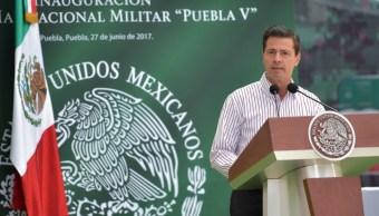 EPN inaugura la Unidad Habitacional Militar 'Puebla V'. (Presidencia de la República)
