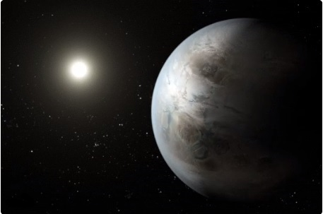 Representacion de un exoplaneta realizado por la nasa
