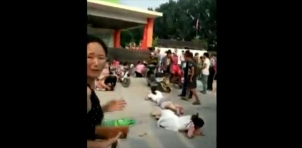 Explosión en guardería de China deja vícitmas