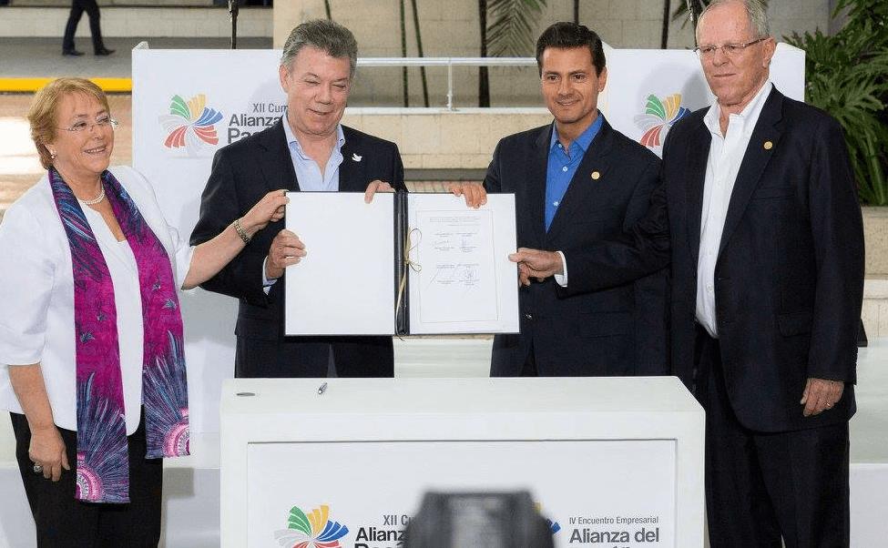 Firma, Acuerdo, Alianza del Pacífico, Michel Bachelet, Juan Manuel Santos, Enrique peña nieto