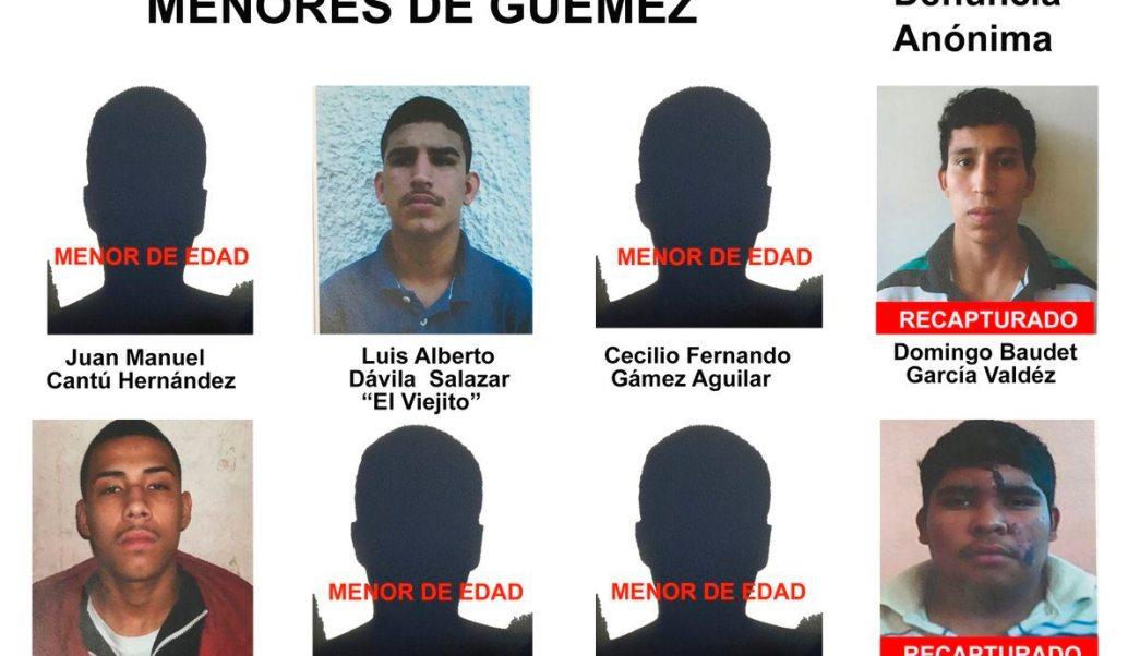 Fotos de los menores fugados del tutelar de Güemez, Tamaulipas