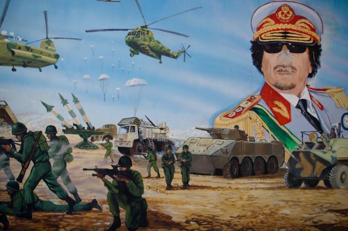 Muamar Gadafi, Libia, Dictador, Gadafi, mural