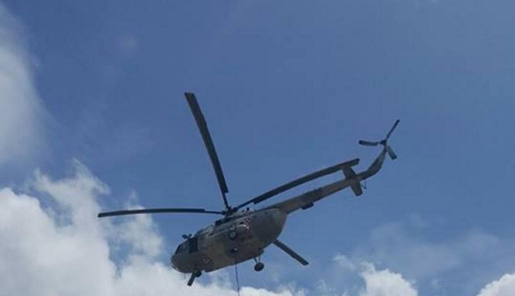 Helicoptero artillado refuerza la vigilancia en Sinaloa