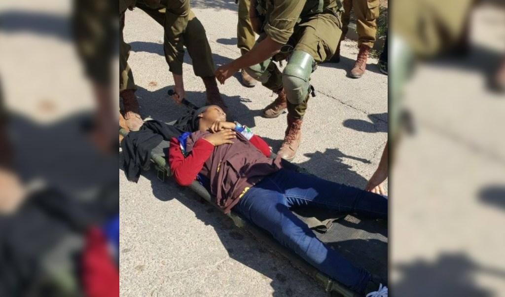 Una menor palestina resulta herida por soldados israelies