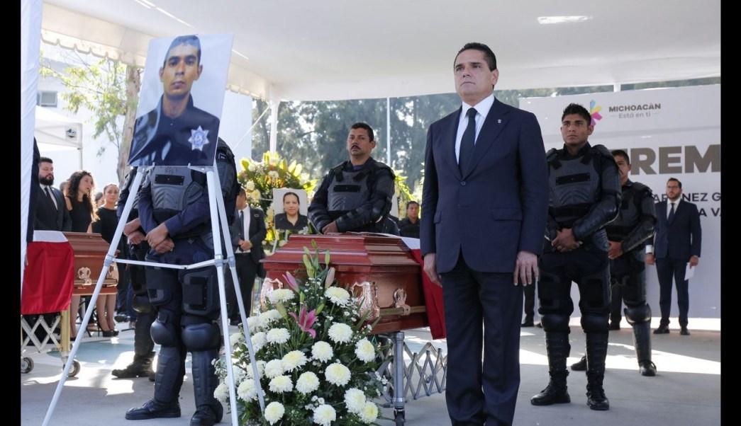 Homenaje, Policias fallecidos, Michoacan, Homenaje a policias fallecidos, Accidente