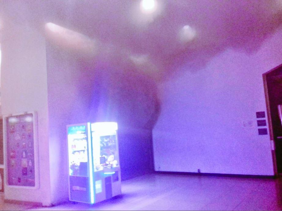 Incendio en centro comercial de satelite