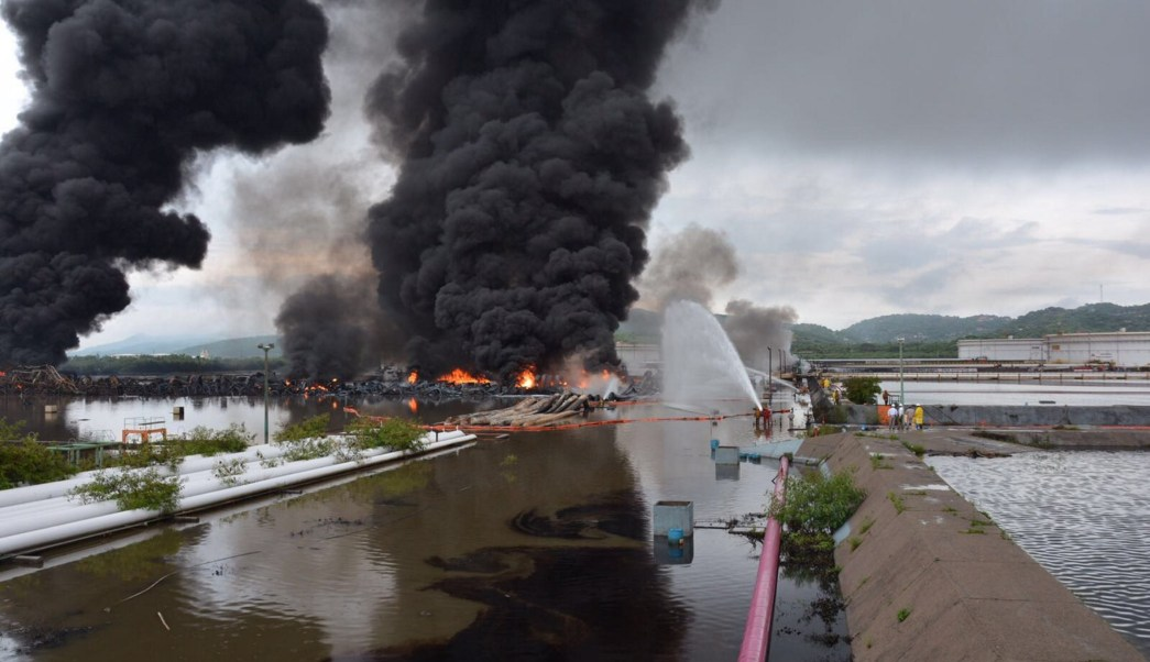 Incendio en la refinería de Salina Cruz, Oaxaca