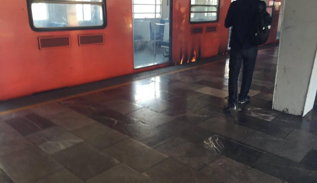 Sistema de Transporte Colectivo Metro, Estación Oceania, Linea 5, Direccion Politecnico, Corto Circuito, Personal De Seguridad Industrial E Higiene y Transportación, STC, Anden, Televisa