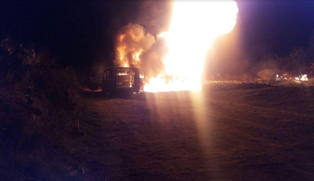 Incendio en toma clandestina, Robo de combustible, Huachicoleros