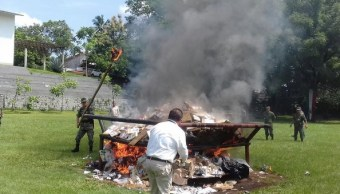 Incineran, Drogas, Tapachula, Chiapas, Incineran drogas,
