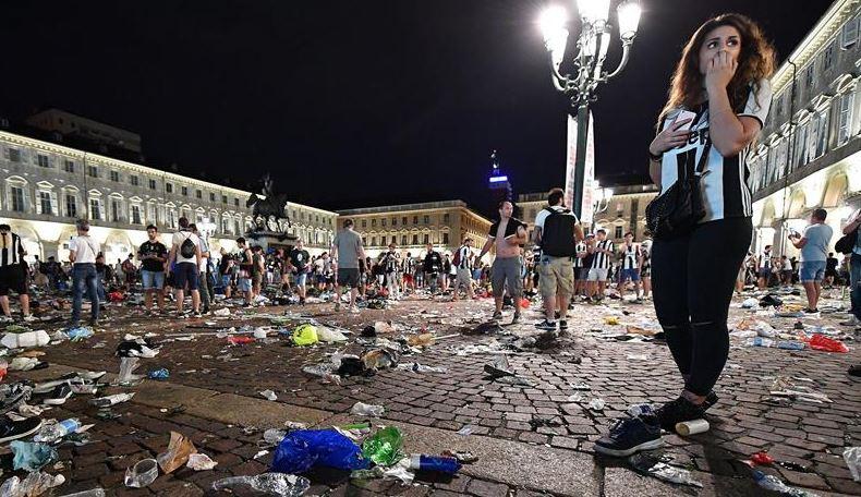 Estampida humana, Copa de Europa, Turin Italia, Juventus, Lesionados, Futbol