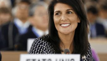 La embajadora de Estados Unidos ante la ONU, Nikki Haley