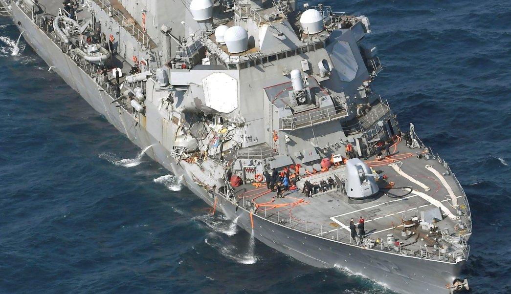Accidente, choque, destructor, barco, filipino, Estados Unidos,