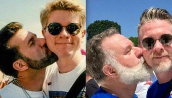 marcha LGBT, Nick Cardello, antes después, fotos