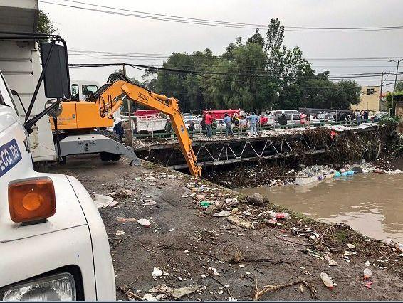Limpieza, Naucalpan, Inundación, Aguas Negras, Desbordamiento, Río Hondo, Afectados, Desfogue