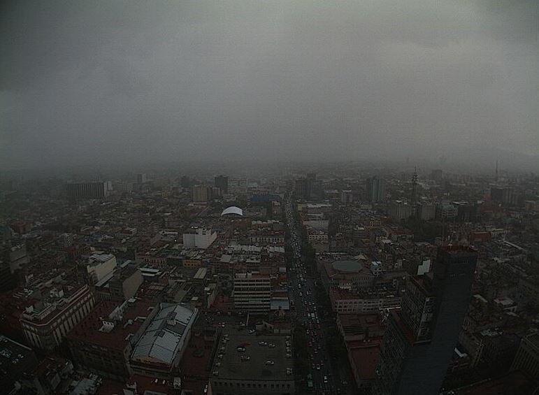 lluvia, llueve fuerte, nublado, ciudad de méxico