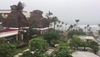 Lluvias en Acapulco por la baja remanente Calvin