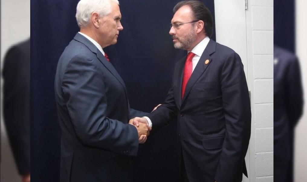Relaciones Exteriores, Luis Videgaray, vicepresidente de EU, Mike Pence