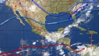 mapa con el clima para este 8 de junio