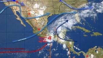 Mapa de fenómenos meteorológicos del 2 de junio
