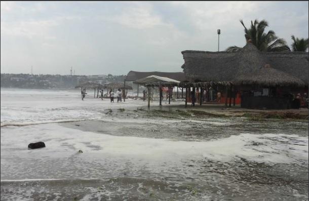Mar de fondo, Alto oleaje, Clima, Oaxaca, puertos,