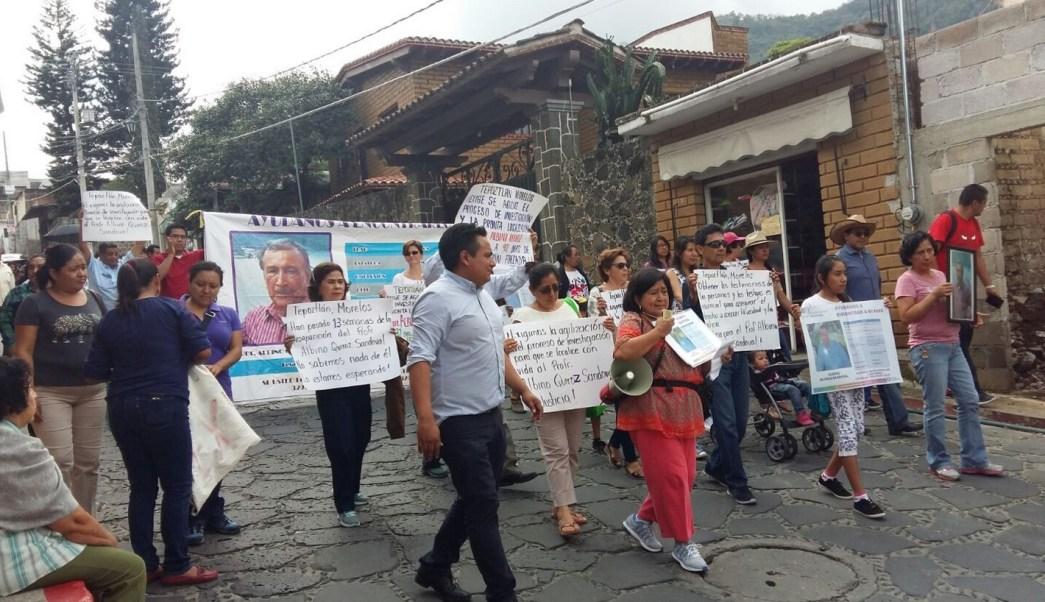 Marchan, Maestro desaparecido, Tepoztlan, Morelos, Seguridad