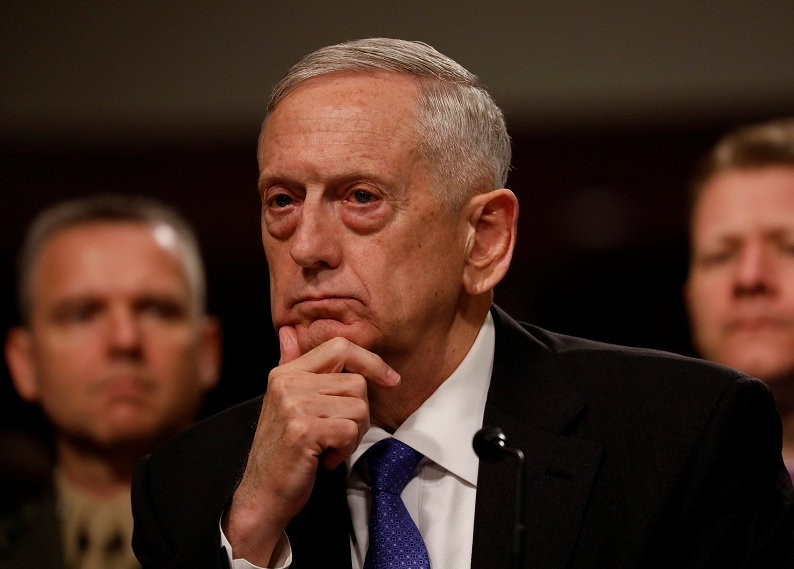 El secretario de Defensa Jim Mattis ante el Congreso de EU (Reuters)