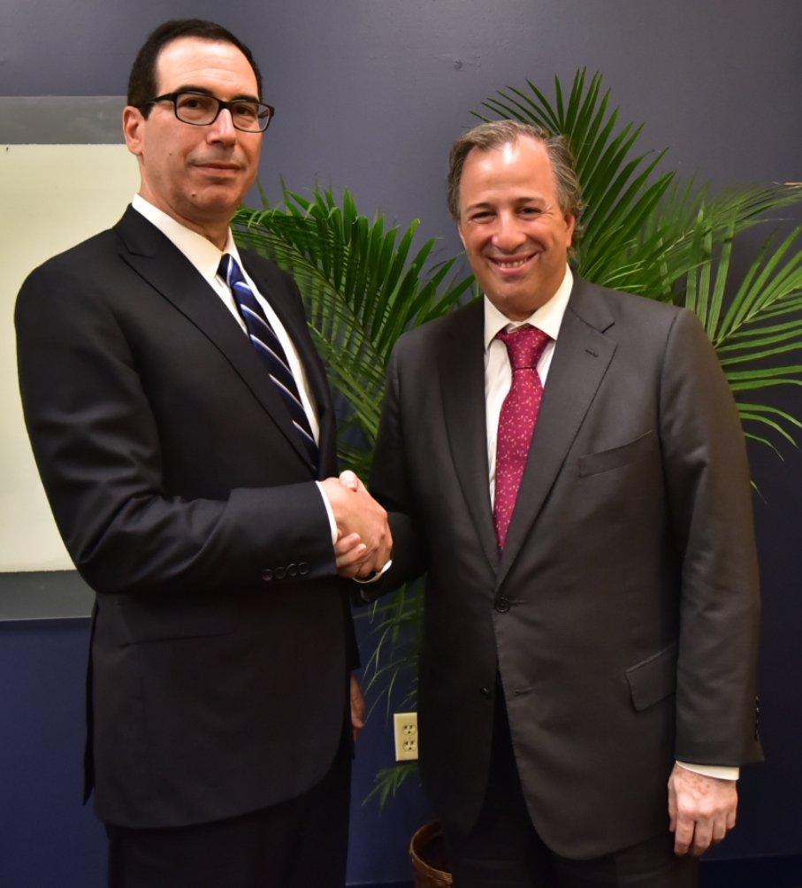 Los secretarios Steven Mnuchin y José Antonio Meade, reunidos por cuarta ocasión