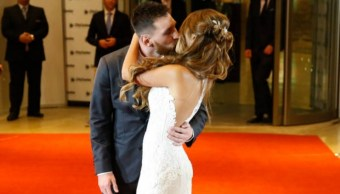 Leonel Messi y Antonela Rocuzzo se dieron el sí. (Getty Images)