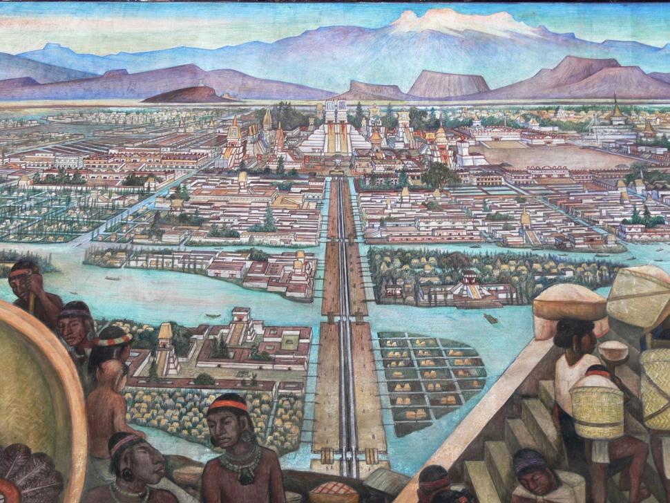 México Tenochtitlán, mural de diego rivera