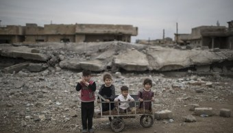 Ninos en mosul estan atrapados por enfrentamientos