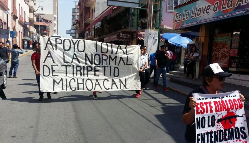 Marchan, Noramalistas, Represion, Tiripetio, Enfrentamiento, Protesta