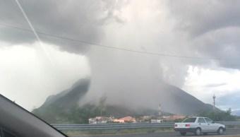 nube, lluvia, Nuevo León, Guadalupe, cortina de lluvia