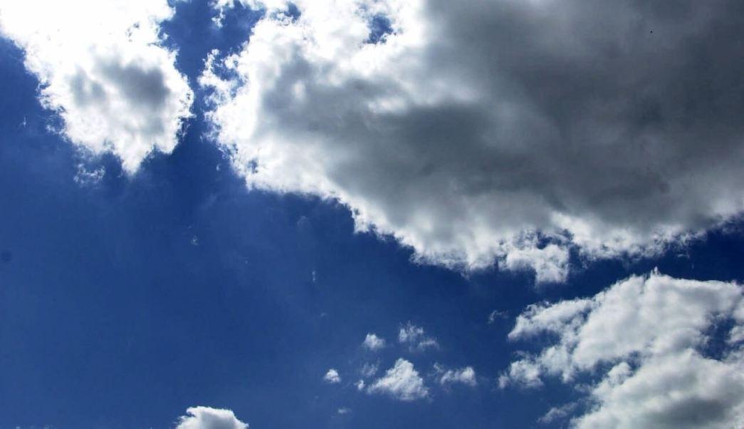 Nubes Cumulus aparecen típicamente en temporada de lluvias
