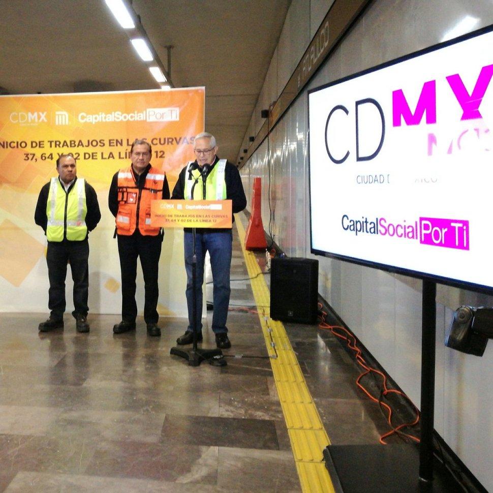 Obras de mantenimiento en la Línea 12 del Metro de la CDMX