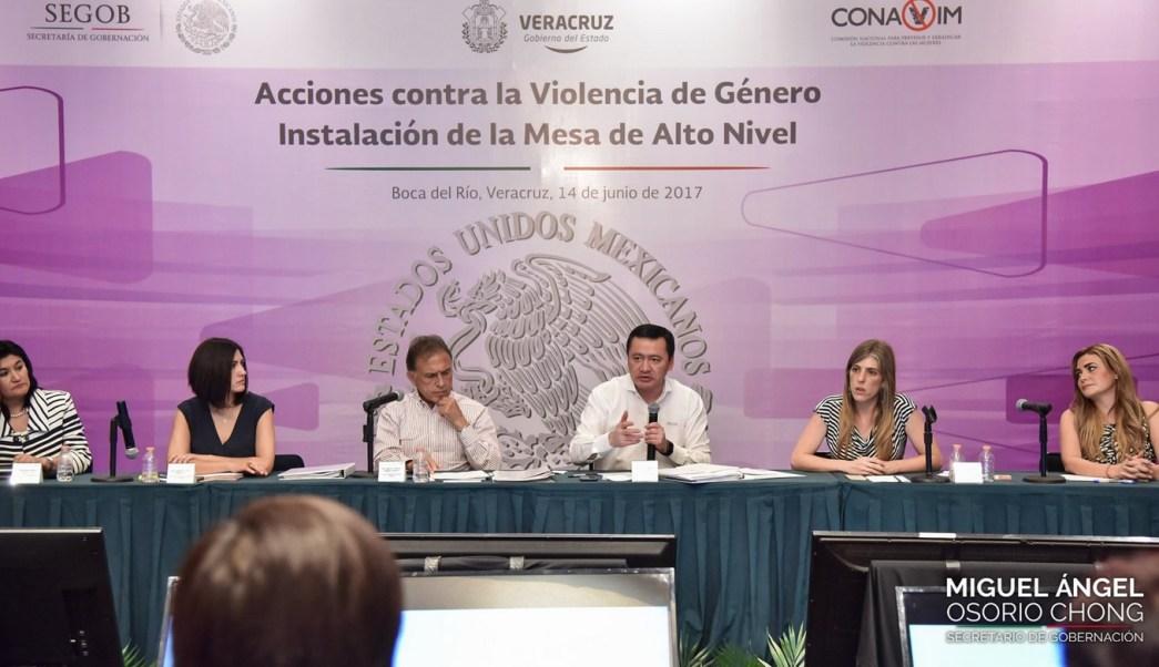 Miguel Ángel Osorio Chong, Gobiernos locales, Violencia de género, Veracruz