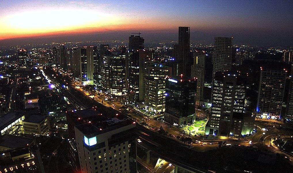 panoramica de la ciudad de mexico; preven 25 grados