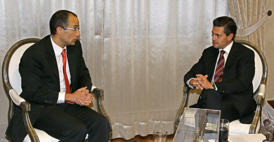 Marcelo Odebrecht y Enrique Peña Nieto en 2013