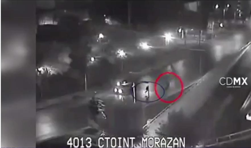 Policia realiza persecucion por calles de la ciudad de mexico