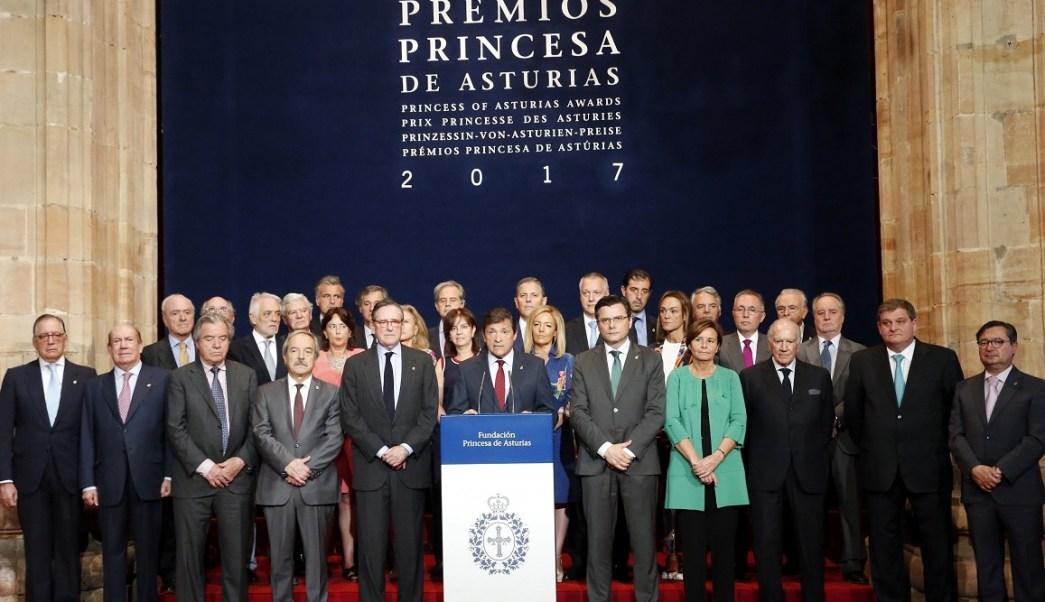 El jurado del Premio Princesa de Asturias de la Concordia 2017 (EFE)