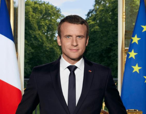 Retrato oficial del presidente de Francia, Emmanuel Macron