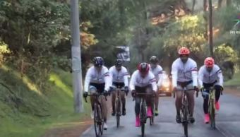 Ciclistas recaudarán fondos para niños que crecen en prisiones de México. (Noticieros Televisa)