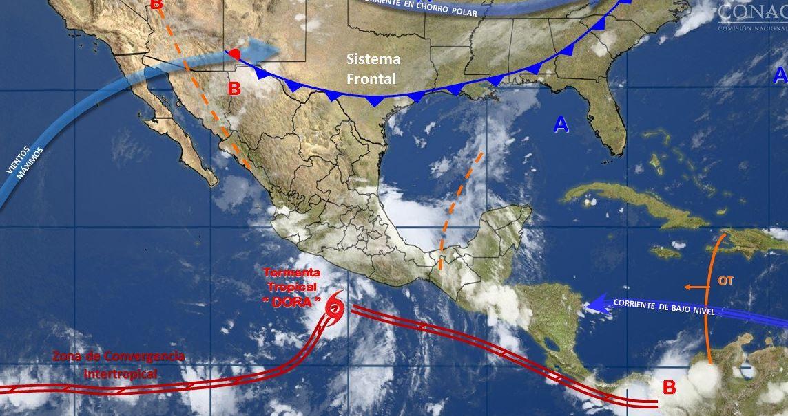 Osorio Chong pide a población estar atenta a recomendaciones por huracán Dora
