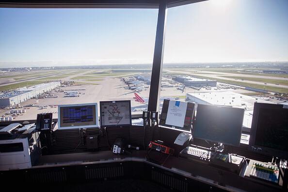 Torre de control, aeropuerto de Chicago, Estados Unidos,