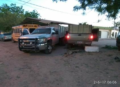 camionetas aseguradas tras una balacera en Guamuchil