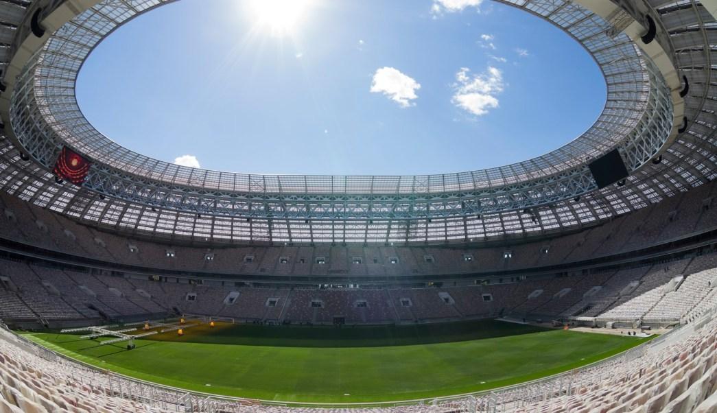 Vista del estadio Luzhniki en Rusia